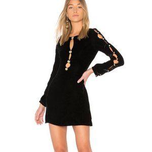 FOR LOVE & LEMONS Beatrix Velvet Button Sleeve S